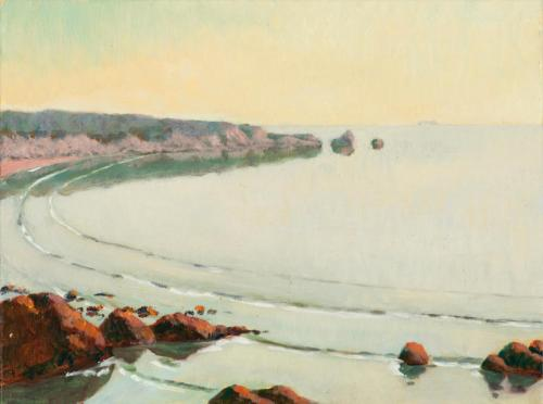 Boat Harbour 2010, oil on linen, 23 x 31 cm. [Private Collection]