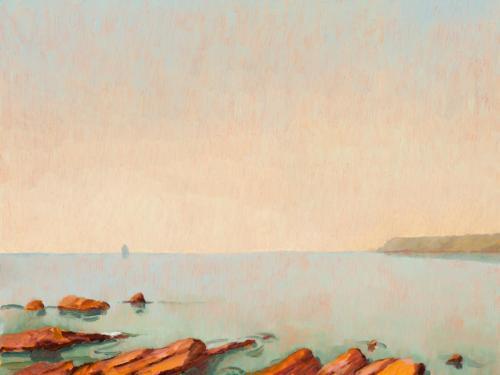 Orange Rocks 2010, oil on linen, 31 x 41 cm. [Private Collection]