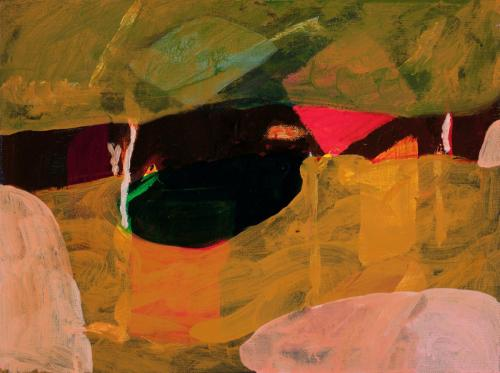 """""""Small Scarp"""" 2011, acrylic on linen, 30 x 40 cm. [Private Collection]"""
