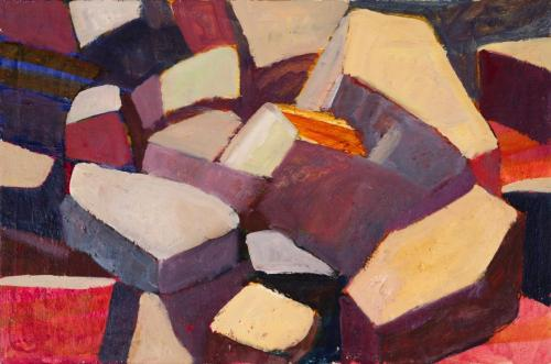 """Blocks 3"" 2012 oil on canvas 51 x 76 cm"