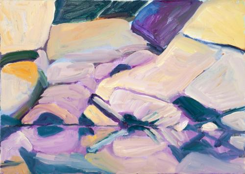 """""""Canyon 2"""" 2012 oil on canvas 39 x 54 cm"""