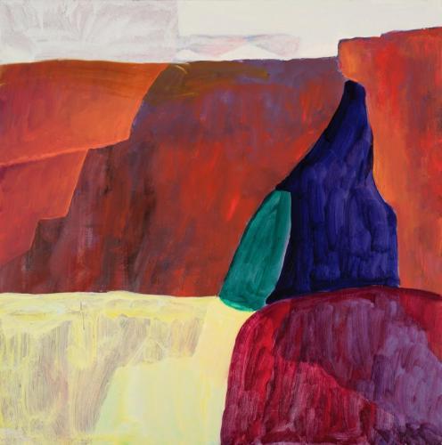"""Gorge"" 2012 oil on canvas 91 x 91 cm"