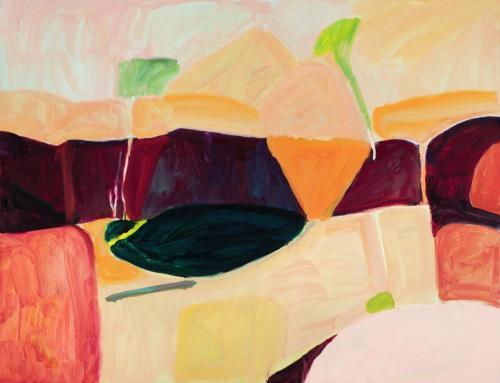 """""""Scarp"""" 2012 oil on linen 107 x 137cm"""