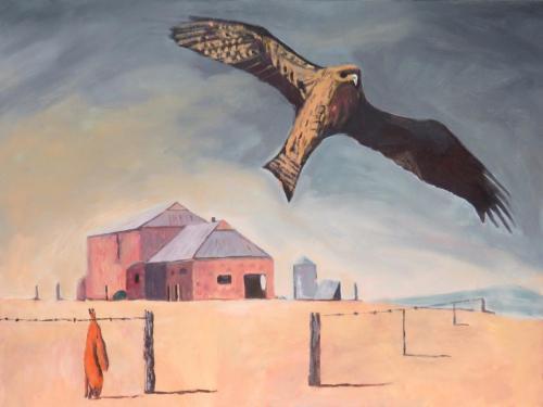 Black Kite (Port Elliot) 2016 oil on linen 76 x 102 cm