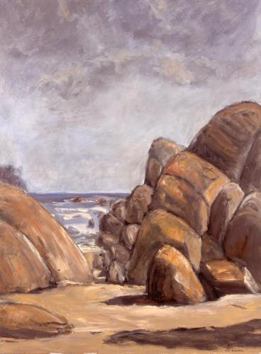 Cape Conran, 2005, oil on linen, 102 x 76 cm. (Private Collection)
