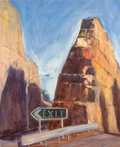 Exit, 2005, oil on linen, 92 x 76 cm. (Private Collection)