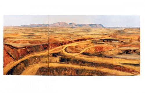 Marra Mamba, 2005, oil on linen, 102 x 228 cm. 3 panels (Private Collection)