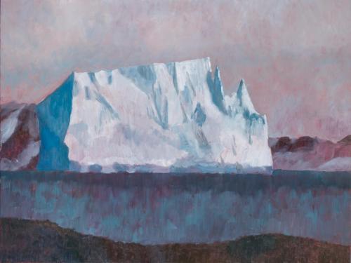 """Aitcho Island Iceberg"" 2008, oil on linen, 76 x 102 cm."