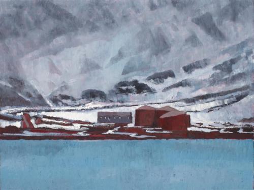 """Deception Island"" 2008, oil on linen, 76 x 102 cm."