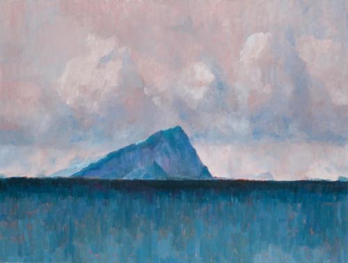 """Deception Island Iceberg"" 2008, oil on linen, 76 x 102 cm."