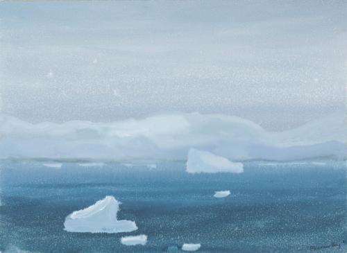 """In Planeau Bay"" 2008, gouache on paper, 24 x 33 cm."