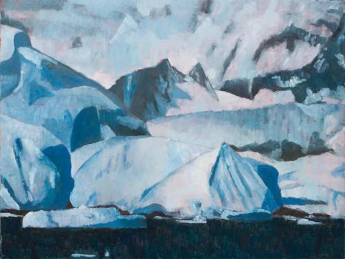 """""""Lemaire Channel"""" 2008, oil on linen, 76 x 102 cm."""