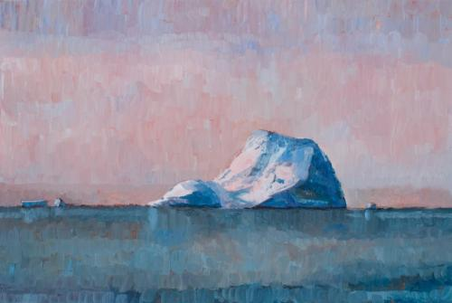 """""""Melchior Islands Iceberg"""" 2008, oil on canvas, 51 x 76 cm. [Private Collection]"""