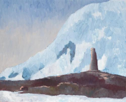 """Monument Paradise Bay"" 2008, oil on linen, 61 x 77 cm."