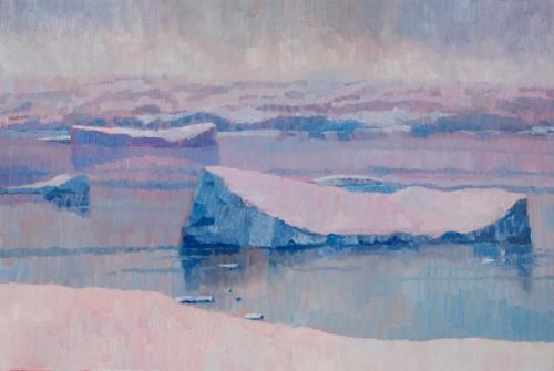 """""""Neko Harbour Iceberg"""" 2008, oil on canvaso 51 x 76 cm."""