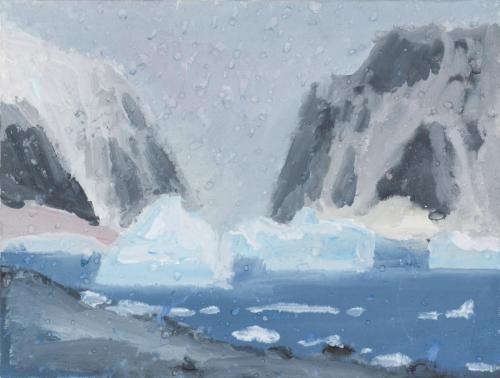 """On Danko Island"" 2008, gouache on board 18 x 24 cm."