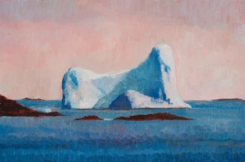 """Petermann Island Iceberg"" 2008, oil on canvas, 51 x 76 cm."
