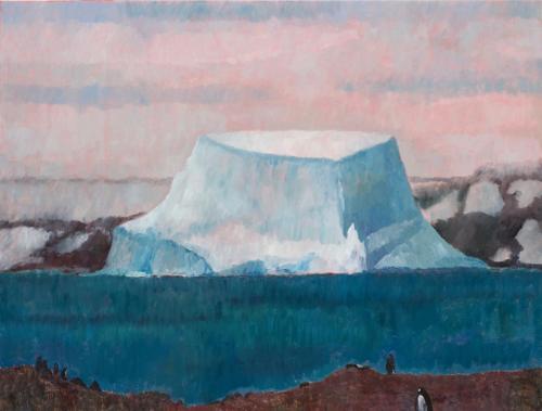 "Glacial Landscapes""Aitcho Island Iceberg 2"" 2008, oil on linen, 76 x 102 cm."