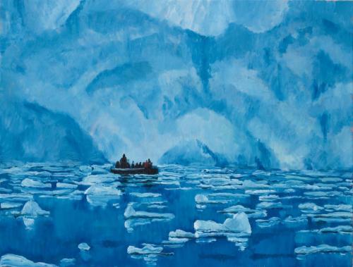 Petzval Glacier 2008 Oil on linen 76 x 102 cm
