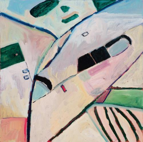 DB1(Wilcannia) 2013 oil on canvas 91 x 91 cm