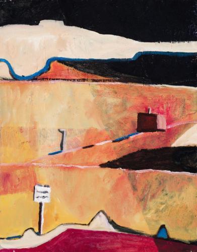 DB5 (Signpost) 2013 oil on canvas 71 x 56 cm