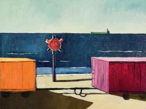 DC13 (Homage to La Meditation Automnale-Burnie) 2012 Oil on Canvas 76x101 cm (Private Collection)