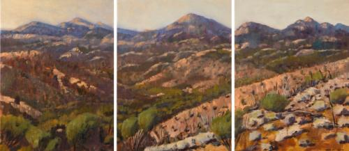 """""""Bunyeroo Panorama"""" 2007, oil on linen, 61 x 138 cm. [Private Collection]"""
