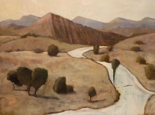 """""""Bunyeroo Valley"""" 2007, oil on canvas, 92 x 122 cm. [private collection]"""