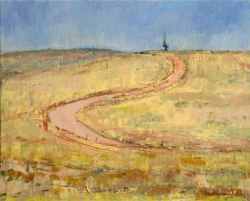 """Hawker Track"" 2007, oil on canvas, 41 x 51 cm."