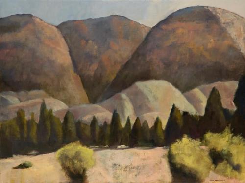 """""""Heysen Range"""" 2007, oil on linen, 92 x 122 cm."""