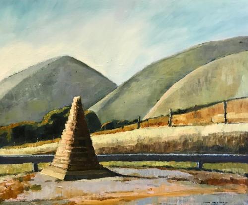 """""""Horrocks Pass"""" 2007 oil on linen 51 x 61 cm"""