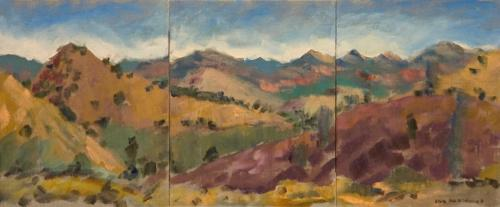 """""""Small Heysen Range"""" 2006, oil on panels, 26 x 60 cm. [Private Collection]"""