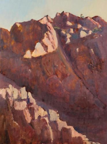 """""""Tillite Cliff"""" 2007, oil on linen, 82 x 61 cm."""