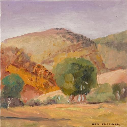 """""""Wilkawillina Gorge"""" 2006, oil on panel, 19 x 19 cm. [Private Collection]"""