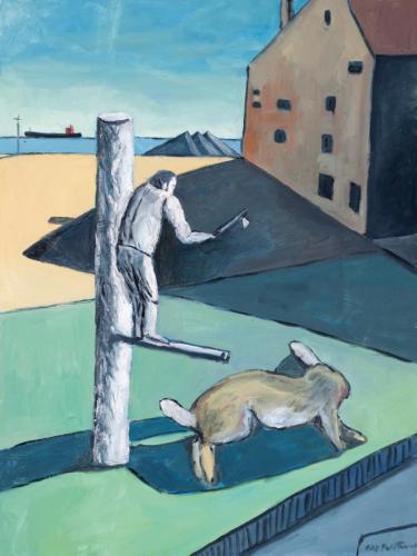"""""""Homage to L'incertitude du poete (Port Latta)"""" 2012, oil on canvas, 76 x 102 cm. [Finalist 2012 John Leslie Prize.]"""