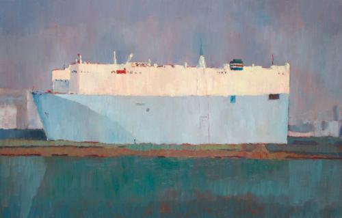 Blue Boat oil on linen 71 x 112 cm 2008