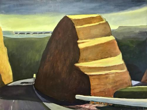 Butress and Bridge 2012 oil on linen 122 x 92 cm