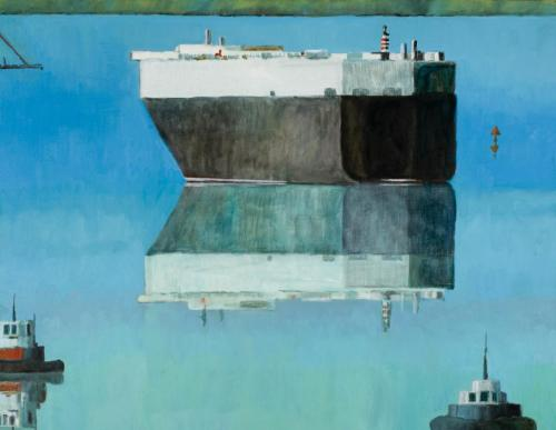 """""""Lyttleton"""" 2009, oil on linen, 107 x 137 cm. (Private Collection)"""