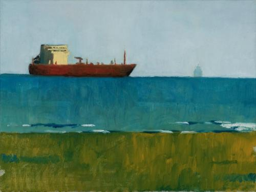 Two Ships Point Lonsdale 1 2009 Oil on linen 39 x 51 cm (Private Collection)