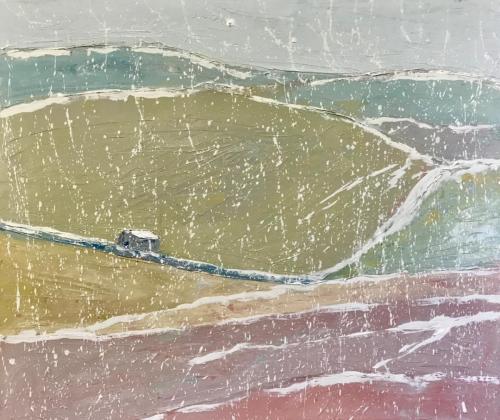 Hut 2019 oil on linen 61 x 51cm