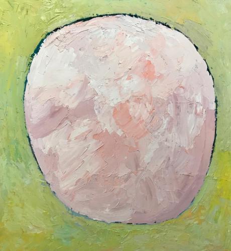 Pink  Salt Lake 2019 oil on wood panel 55 x 60 cm