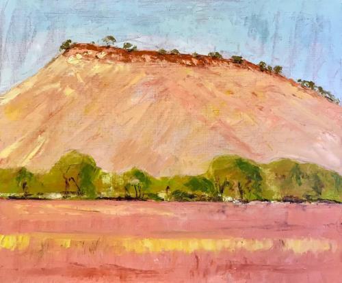 Sloping Mesa 2019 oil on linen 61 x 51 cm