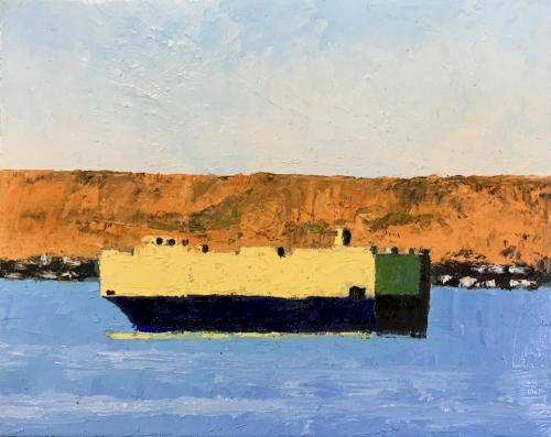 Suez 2020 oil on linen 51 x 41 cm