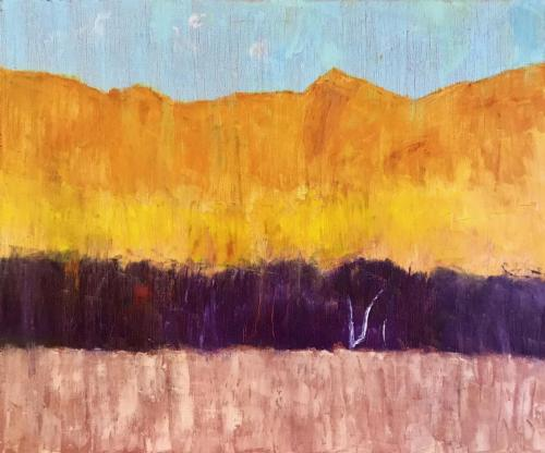 Yellow Cliff 2019 oil on linen 61 x 51 cm