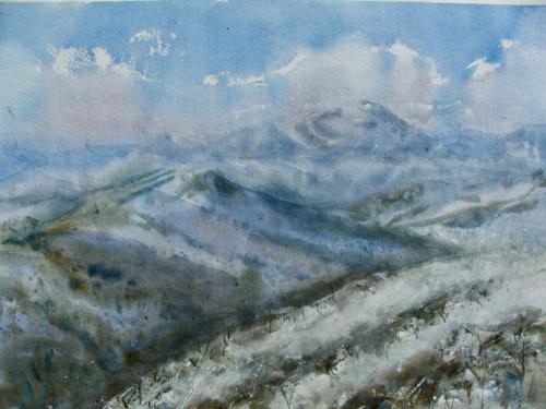 Mount Feathertop 2002 38 x 56 cm