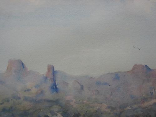 warrumbungles 2003 38 x 56 cm